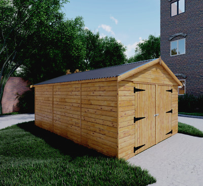 New 16x10 Ft 16x12 Ft 16x14 Ft Wooden Garage Workshop Free Delivery Ebay