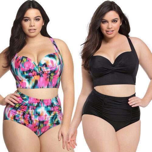 Women/'s Plus Size Bikini Set High Waist Swimwear Tankini Beach Swimsuit Bathing