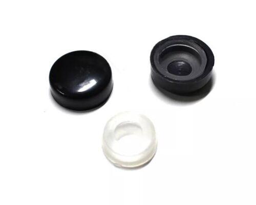 1PC SLIM BLACK STAINLESS STEEL LICENSE PLATE FRAME SCREW CAPS //SLIM 4 HOLE BF