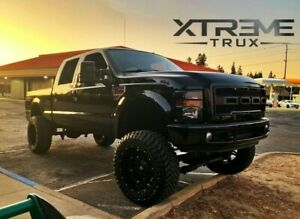 05 07 Raptor Style Grille For 05 07 Ford F250 F350 Super Duty Gloss Black Ebay
