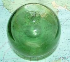 c1930 Buoy Marked Pontil +PCF+ Glass Net Float