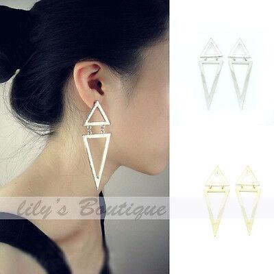 Hot Ladies Fashion Enamel Geometric Triangle Earring Ear Stud Eardrop Earbob
