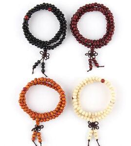 28-034-8mm-Sandalwood-Buddhist-Buddha-Worry-108-Prayer-Bead-Mala-Bracelet-UK