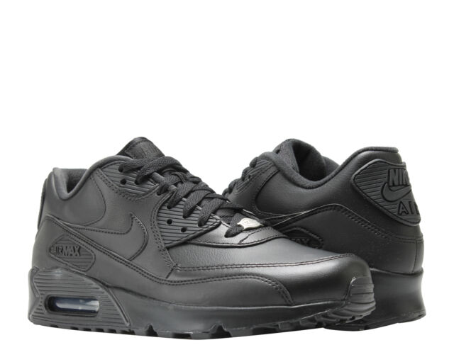 huge selection of ead6c a05eb Nike Air Max 90 Leather Black/Black Men's Running Shoes 302519-001