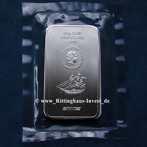 Silver Bullion Silberm 252 Nzbarren 100g 0 22 Lbs Cook Islands