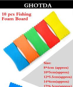 Accessori Pesca Kit 10 Pz Tavolette Avvolgilenza In Neoprene Colori Assortiti