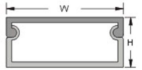 3,55 €//1m 1m canaleta 25,4x11mm Weiss autoadhesivas