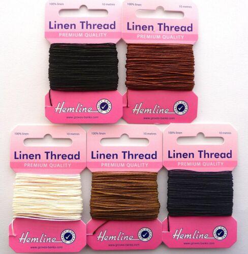 10m Strong Linen Sewing Craft Thread Hemline 100/% Linen FREE 1st CLASS POSTAGE