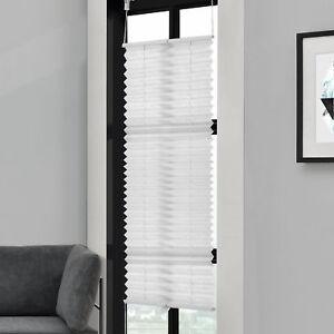 Plissee-65x200cm-Blanc-sans-Perceuse-Pliage-Des-Aveugles