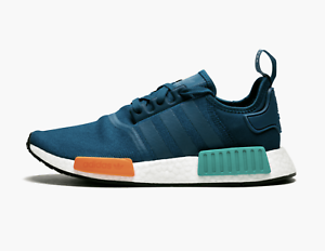 los angeles 4c86e 4036a Details about Adidas NMD R1 # G26510 Blue Night Orange Men SZ 7.5 - 13
