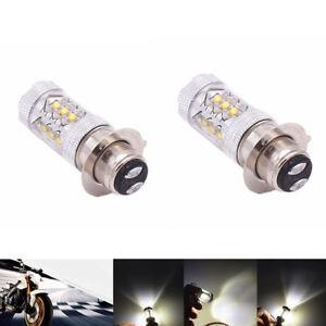 p15d h6m 16 smd led birne motorrad scheinwerfer drl lampe. Black Bedroom Furniture Sets. Home Design Ideas