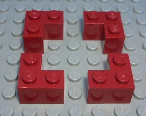 Lego Stein Ecke 1x2x2 Dunkelrot 4 Stück 1069