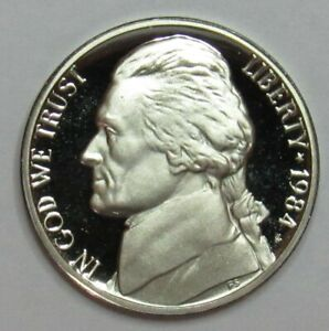 1984 P,D/&S Jefferson Nickels in BU and Proof condition