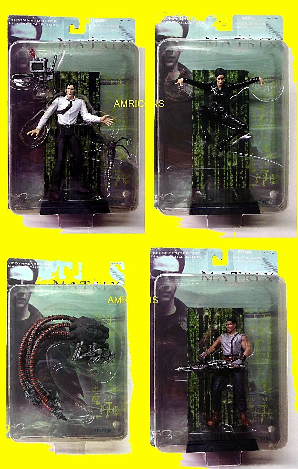 Matrix Movie 4 Action Action Action Figure Set Series 2  N2 Toys Neo Trinity Sentinel New 2000 ab5f55