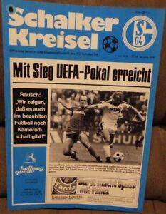 FC Schalke 04 + Schalker toupie 04.06.1976 + Championnat contre Hanovre 96/513