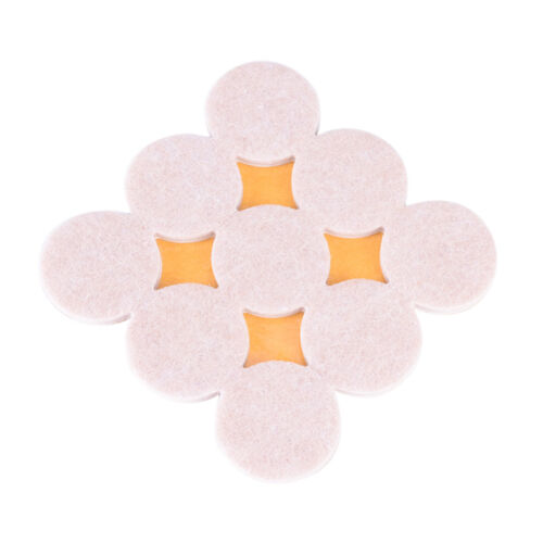 18Pcs//Set Floor Furniture Wall Chair Scratch Protector Felt Round Pads new JHUS