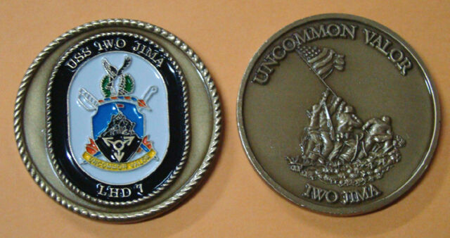 LHD-7 Challenge Coin US NAVY USS IWO JIMA
