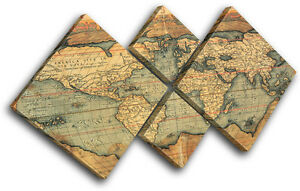 Old world atlas maps flags multi canvas wall art picture print va image is loading old world atlas maps flags multi canvas wall gumiabroncs Images