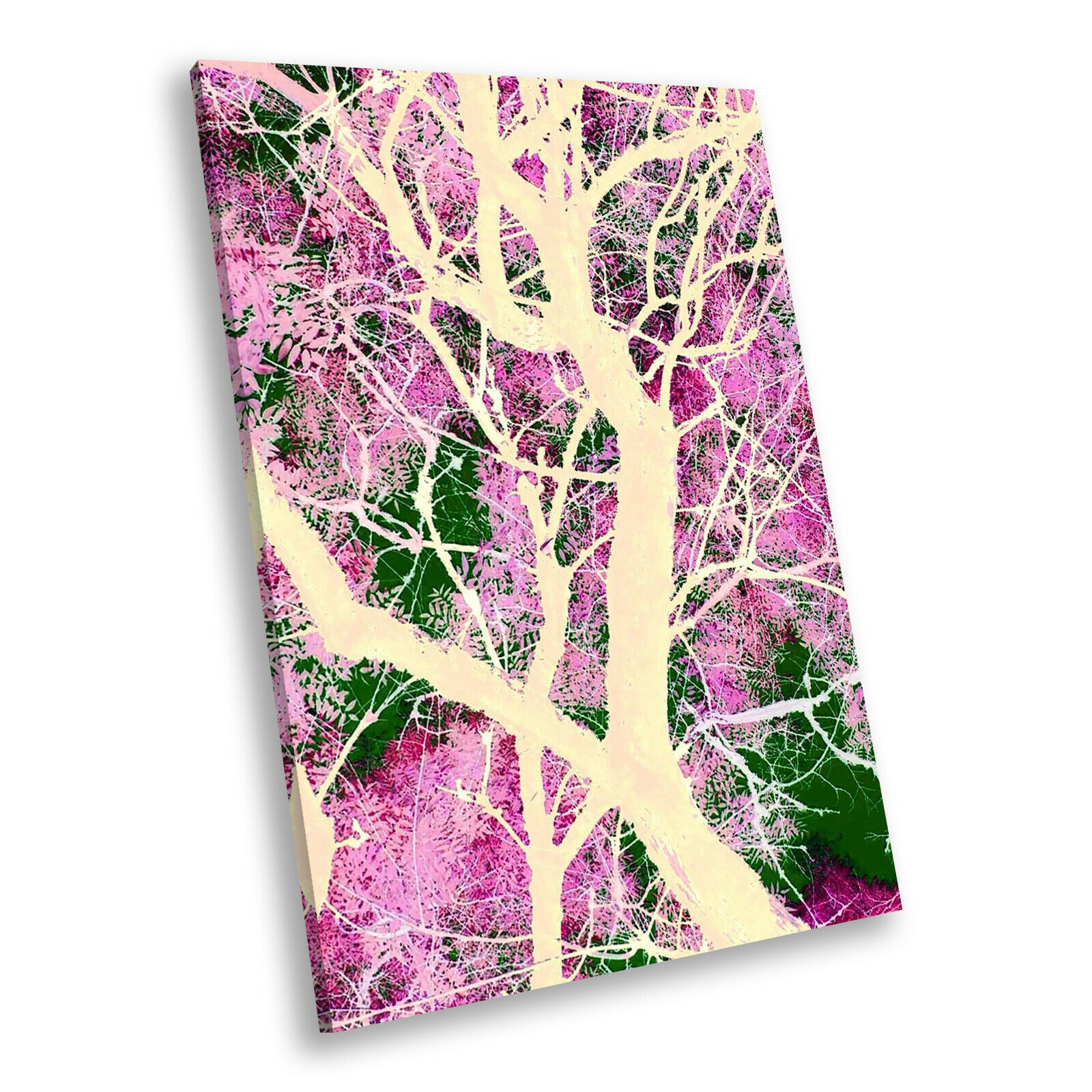 Colourful Abstract Tree Cool Portrait Scenic Canvas Wall Art Picture Prints