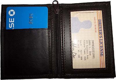 Accurato Nuovo Pelle Business Credito Atm Scheda Spazio 2 Ids 2 Zip Tasche 1 Bill Tasca