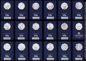 2016-2017-2018-2019-BU-50p-Fifty-Pence-Coins-Beatrix-Potter-Paddington-Bear