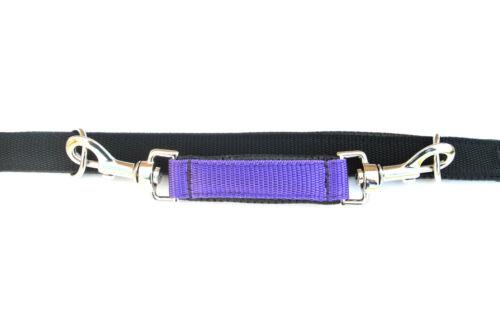 "9/"" Padded Grab Handle Control Restraint For Dog Collars 25mm Purple Webbing"