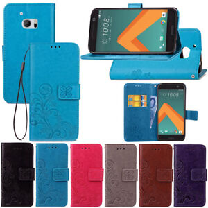 For-HTC-10-M10-Wallet-Flip-PU-Leather-w-Card-Slots-Magnetic-Stand-Case-Cover