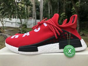 e1e98a0ef70e0 ADIDAS PHARRELL WILLIAMS HUMAN RACE NMD BB0616 SIZE 11.5 RED SCARLET ...