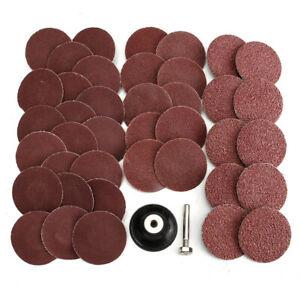 40X 2Inch 50mm 40//80//120//240 Grit Type R Sanding Discs Abrasive Roll Lock