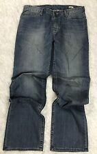 Calvin Klein Mens Denim Straight Leg Jeans Medium Wash Pants Size 34 W 32 L