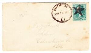 D.P.O CENTREVILLE(Kent County)RHODE ISLAND-STAR CANCEL-JAN/18/1888-3c
