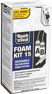 Touch N Seal U215 Spray Foam Insulation Kit 15 BF Closed Cell