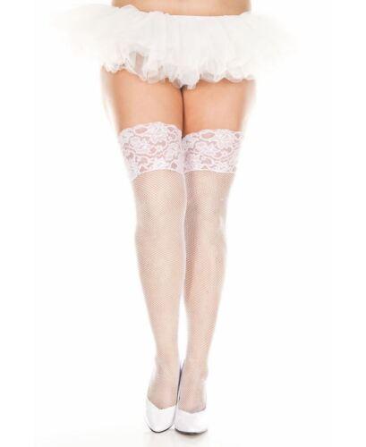 Plus Size Fishnet Thigh High Stockings Music Legs 4926Q