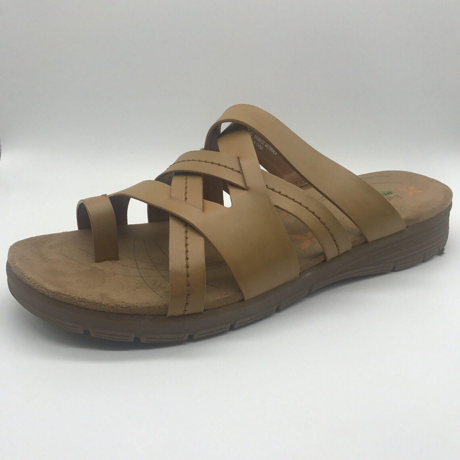Bare Traps open toe sandals sz 11 tan Cassy Slides comfort platform memory foam