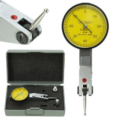 Dial Test Indicator Outer Gauge Precision Metric w/ Dovetail Rails 0-40-0 0.01mm
