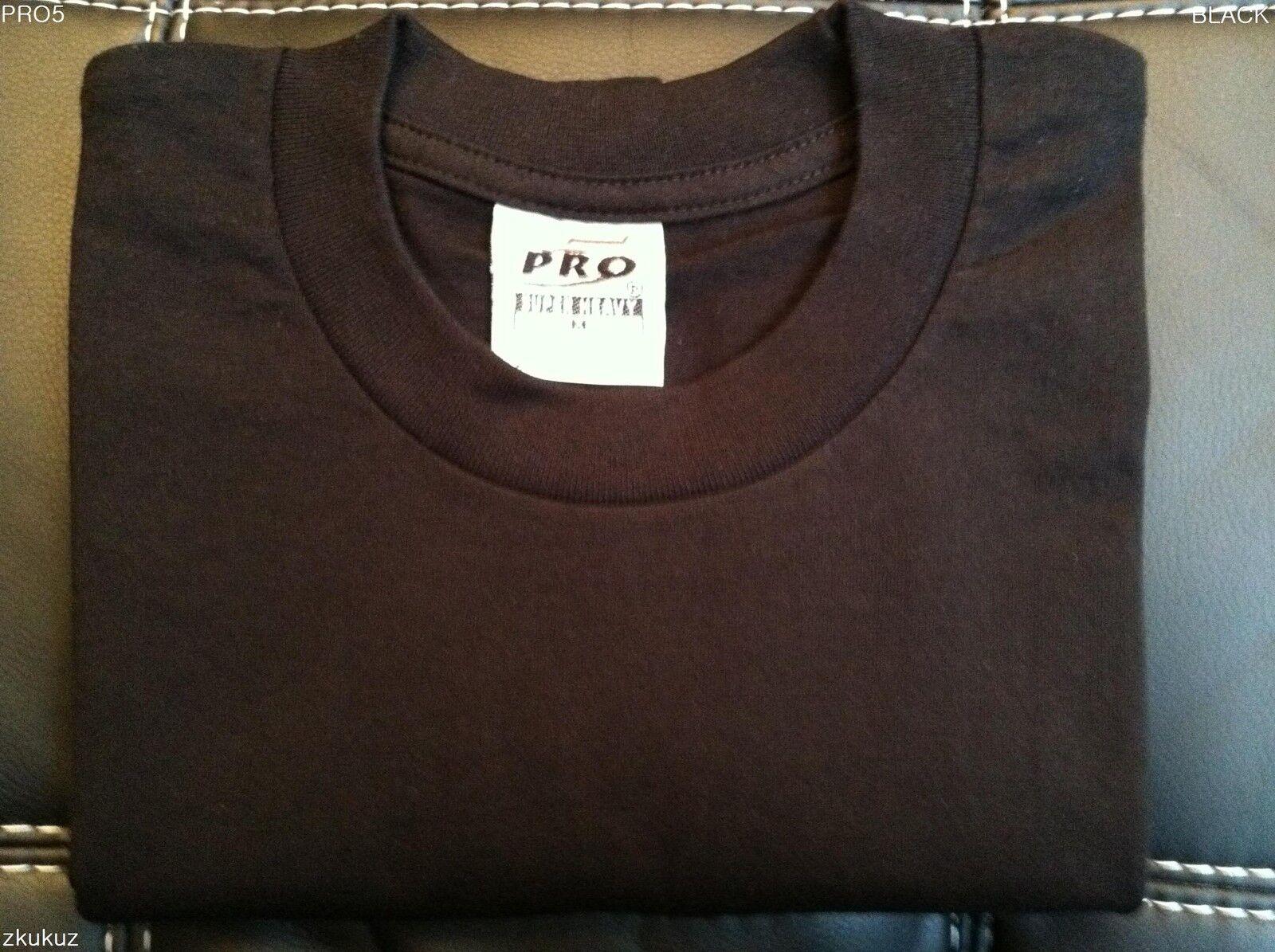 6 Nuevo Pro  5 PRO5 CAMISETA súper PESADO NEGRO TEE LLANO blancoO 2X-Grande 2XL 6PC  mejor moda