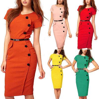 Gr. 36 38 40 mit Gürtel Damen Abendkleid Sommerkleid Party Clubwear Kleid Tunika