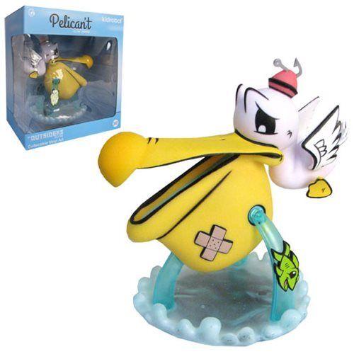 Kidrobot - Pelican't giallo Medium Figure by Joe Ledbetter