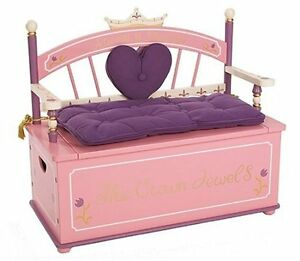Details About Levels Of Discovery Princess Bench Girl Toy Box Bench Seat  With Storage Box New.