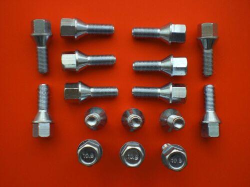 16 Radschrauben Radbolzen  M12 x 1,25 SW 17 für Citroen C2  C3  C4