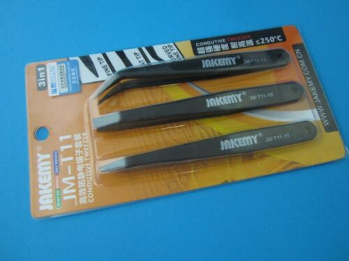 Pinzette Set JAKEMY Tweezers Temperaturbeständig T11-11 12 13