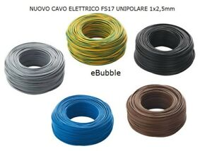 CAVO-Elettrico-Rame-FS17-Cordina-UNIPOLARE-1x2-5mm-MATASSA-50-metri