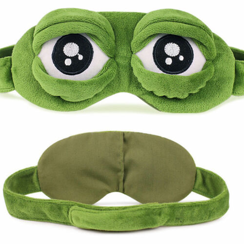 Pepe la grenouille triste Grenouille 3D Masque Yeux Housse sommeil repos dormir Anime Funny