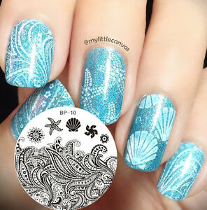 Starfish Shell Theme Nail Art Stamp Template Image Stamping Plate