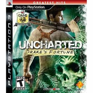 Uncharted-Drake-039-s-Fortune-Greatest-Hits-PlayStation-3-PS3-Complete-CLEAN-VG