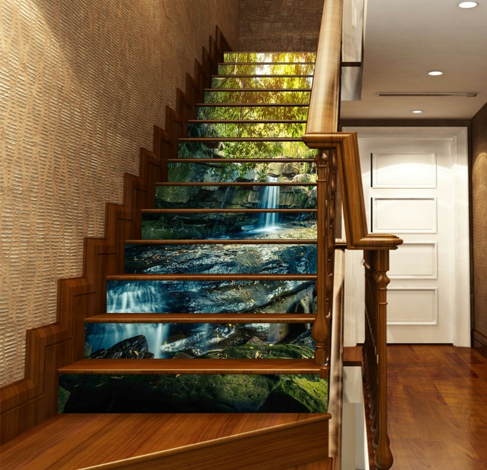 3D Forest Stone 243 Stair Risers Decoration Photo Mural Vinyl Decal Wallpaper UK
