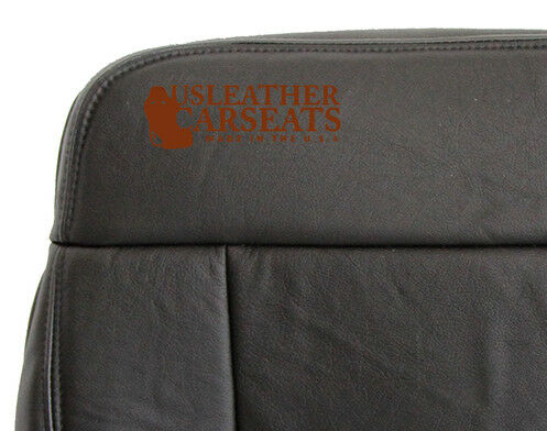 2004-2008 Ford F150 SuperCrew Lariat Crew Driver Bottom Leather Seat Cover BLACK