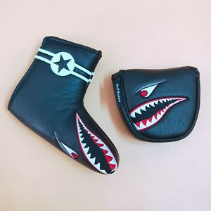 Golf-Putter-Cover-Magnetic-Shark-Headcover-for-Odyssey-Scotty-PING-Mallet-amp-Blade