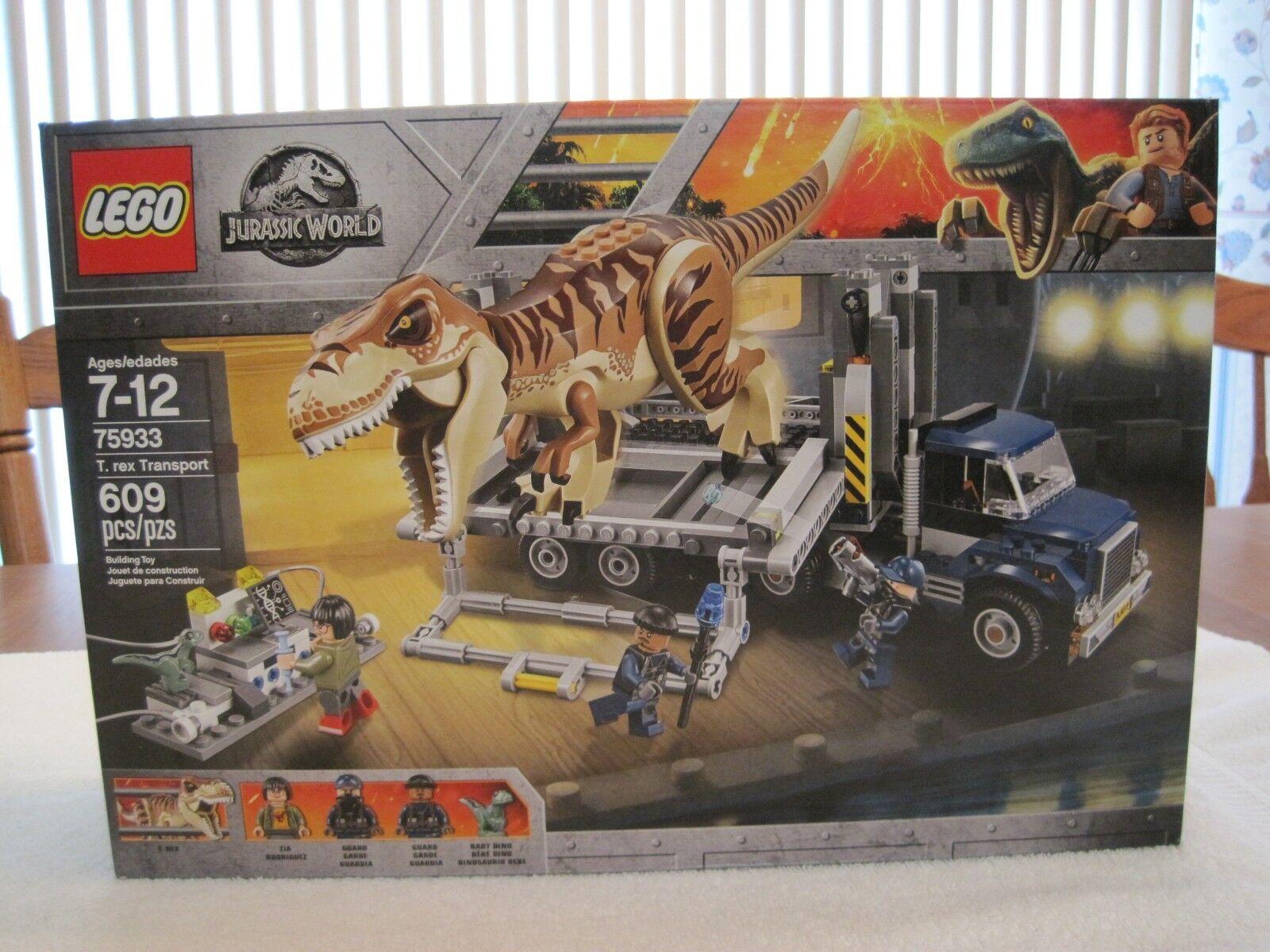 LEGO 75933 JURASSIC WORLD T. REX TRANSPORT--NEW--FACTORY SEALED