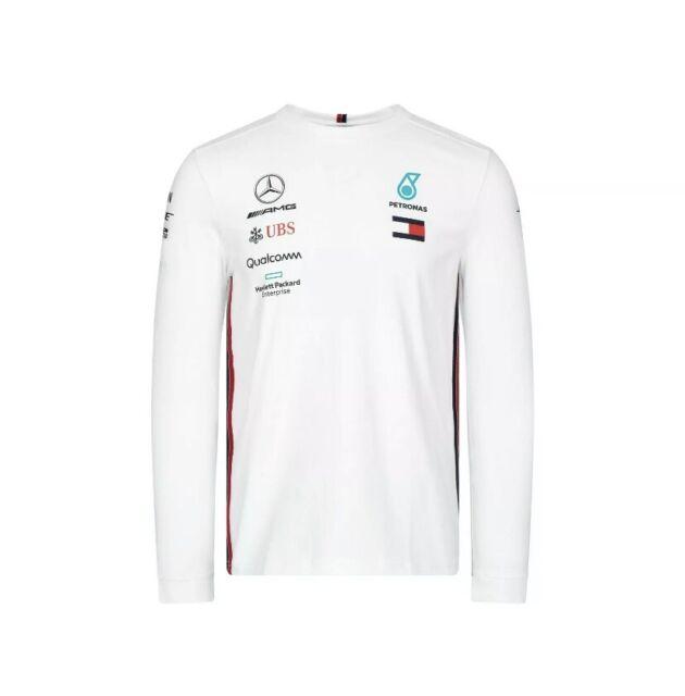 Short Sleeve T Shirt Mercedes Benz AMG Petronas Formula 1 Mens Black Logo